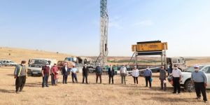 Gaziantep'te hayvanlar için meralara su kuyusu açılıyor