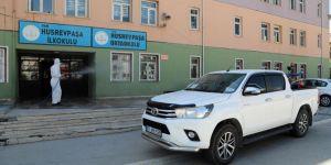Van'da okullar LGS sınavı için dezenfekte ediliyor