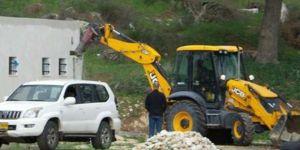 Siyonist işgal rejimi, Filistinlilerin ev ve iş yerlerine yönelik yıkım zulmünü sürdürüyor