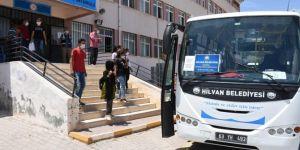 Hilvan Belediyesi sınava giren öğrencilere özel servis tahsis etti