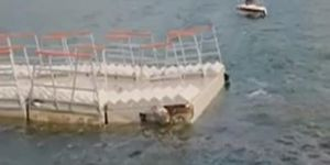 Hasankeyf'te milyonlarca liraya mal olan yüzer liman koptu