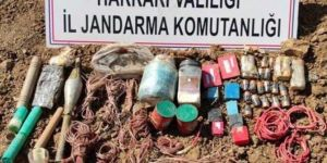 Hakkâri'de PKK'lilere ait mühimmat ele geçirildi