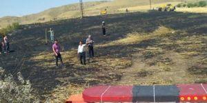 Elazığ'da çıkan yangında 20 dönüm buğday tarlası küle döndü
