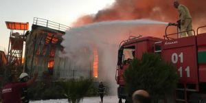Adana Sarıçam'da fabrika yangını