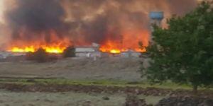 Çınar Yıllarca'da bin dönüm buğday ve arpa tarlası yandı