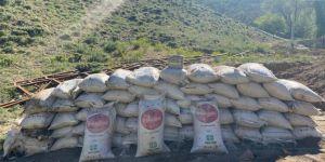 Başkale'de PKK operasyonunda 3 ton suni gübre ele geçirildi