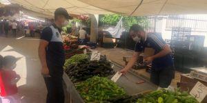 Adıyaman'da covid-19 nedeniyle pazarlar denetlendi