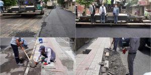 Diyarbakır'da asfaltlama ve parke taşı döşeme çalışmaları devam ediyor