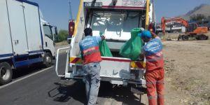 Ergani'de refüj ve kaldırımlar temizlendi