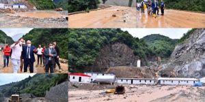 Trabzon Yomra'da şiddetli yağışlar sel ve heyelana neden oldu
