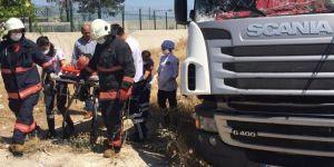 Malatya'da 2 TIR'ın karıştığı kazada bir kişi yaralandı