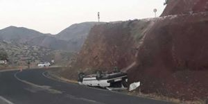 Palu'da köy yolundaki yükseltiden anayola düşen otomobilde 1 kişi yaralandı
