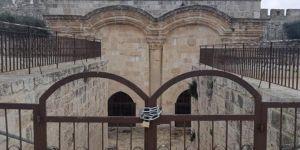 Siyonist işgal rejiminin Rahmet Kapısı Namazgahı'nı kapatmasına tepki