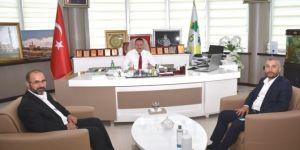 İLKHA yönetiminden Bağlar Belediye Başkanı Beyoğlu'na ziyaret