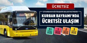 Diyarbakır'da toplu taşıma hizmeti ücretsiz verilecek