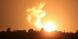 Zionist occupation regime's warplanes strike Gaza site