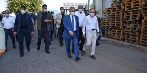 Vali Karaloğlu, Diyarbakır Gıda Toptancılar Çarşısında Covid-19 denetiminde bulundu