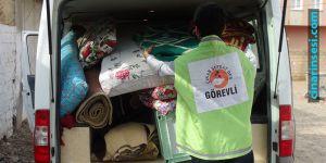Çınar Şefkat-Der evi yanan ailelere yardımda bulundu