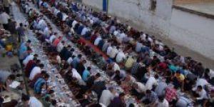 Çınar Şefkat Der açık alanda iftar yemeği verdi video