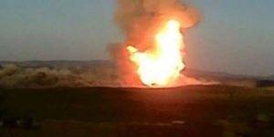 Arıcak'ta patlama