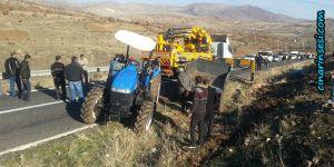Çermik-Çüngüş yolu Sinek köyü mevkiinde kaza