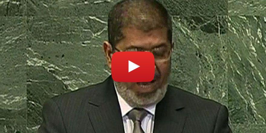 Şehid Mursi'nin tarihi BM konuşması