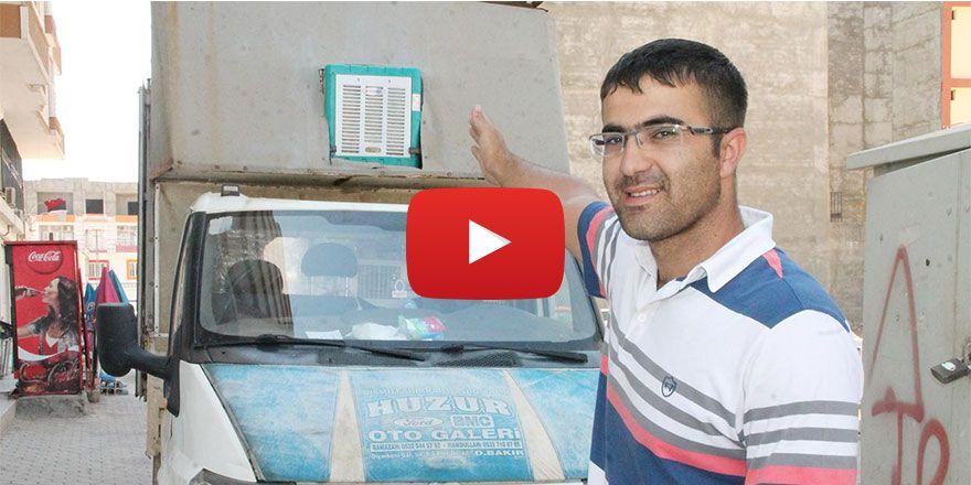 Kızıltepe'de arabaya ev tipi sulu klima taktırdı