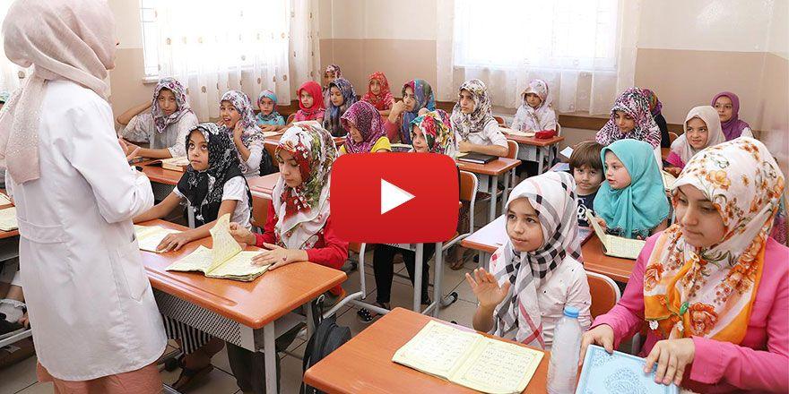 Öğrenciler yaz tatilini Kur'an ı Kerim öğrenerek geçiriyor
